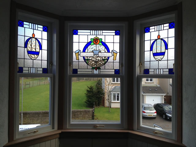 Stained glass windows timber windows solutions glasgow for Window design company
